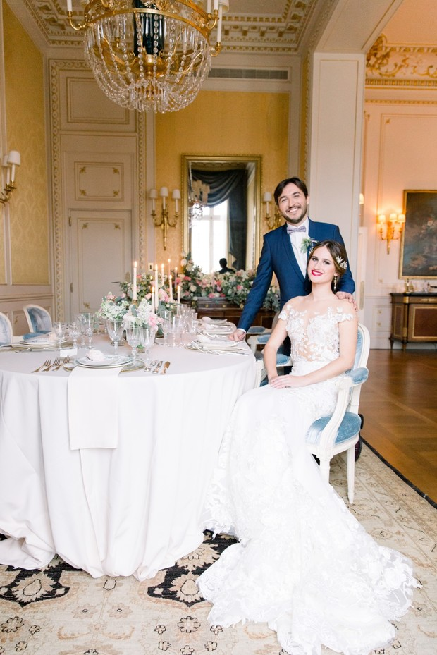 intimate French wedding reception idea