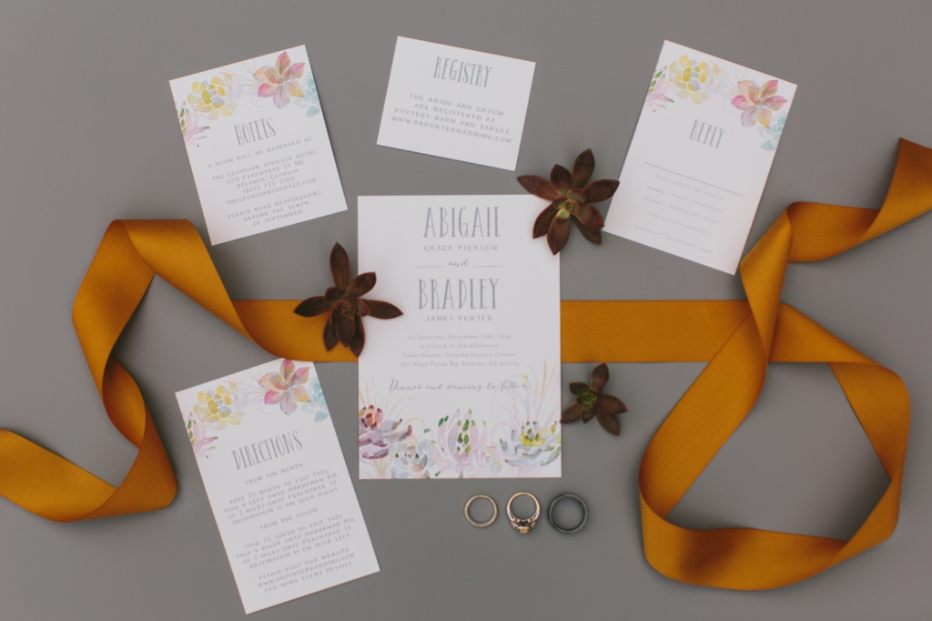 Our Succulent Wreath Wedding Invitation Suite is perfect for your desert wedding!