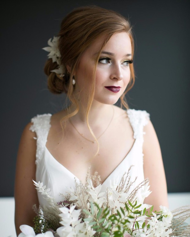 bridal hair and makeup idea