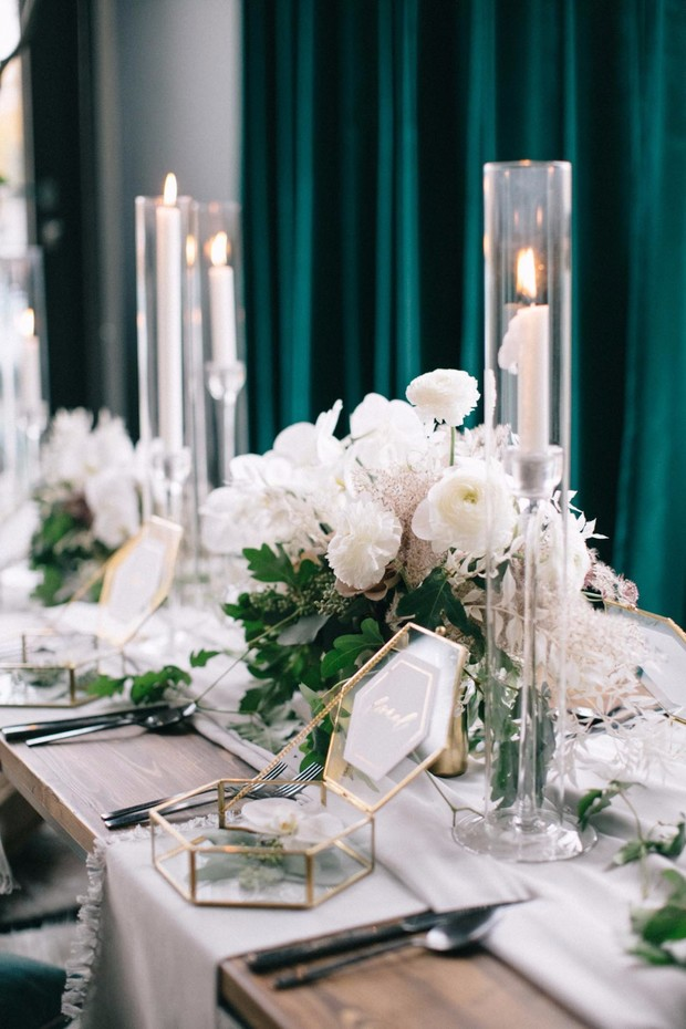 elegant and cozy wedding table decor