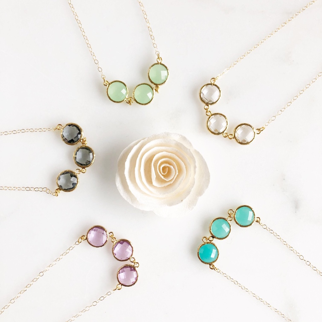 Perfect bridal party necklaces! Many colors available, or place a custom order with us!