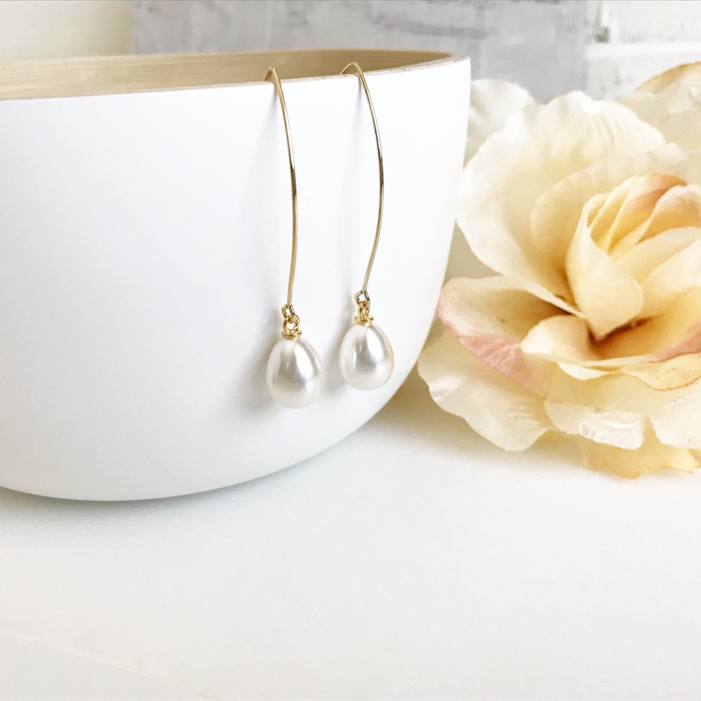 Classic pear drop earrings, available in silver and gold!