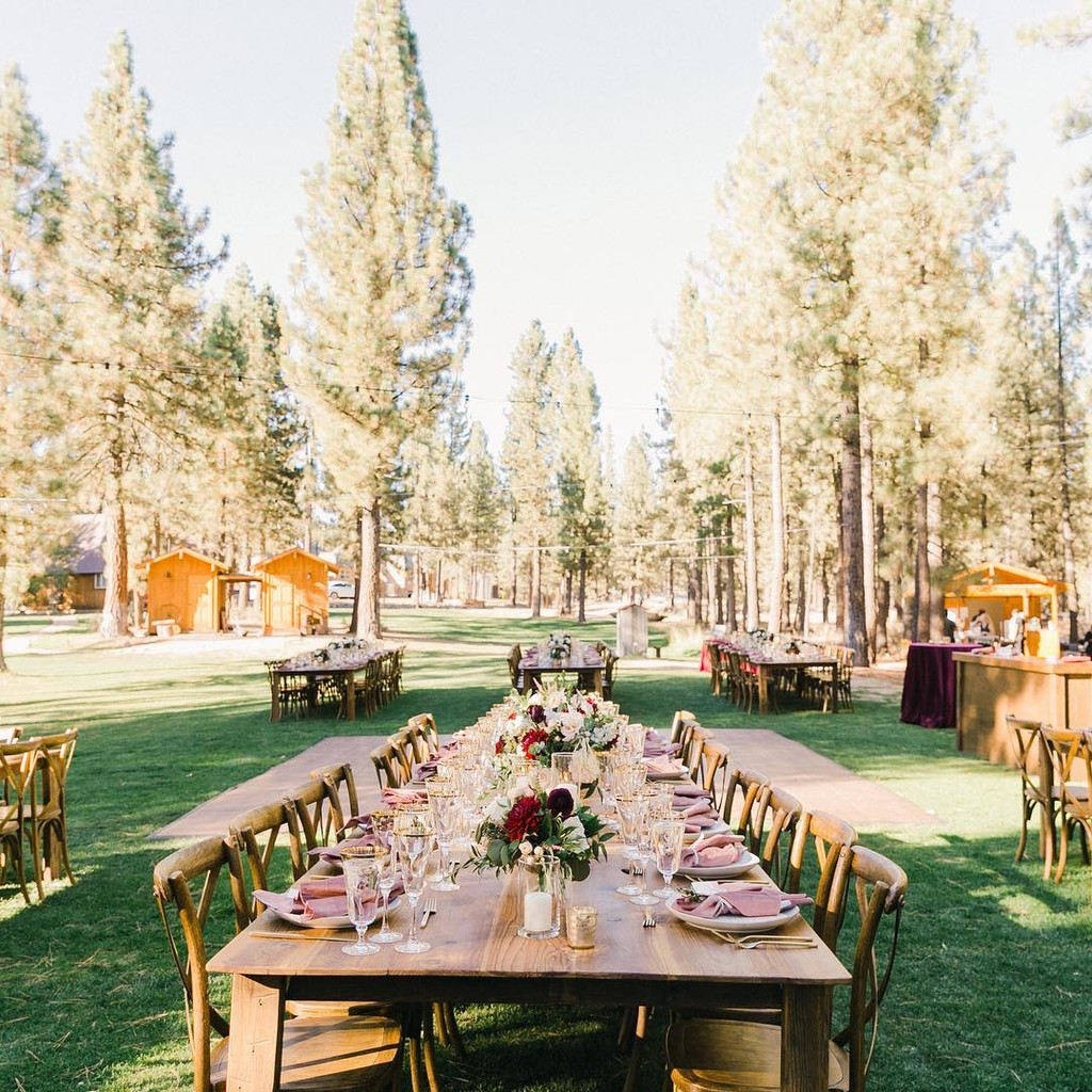 """""""Deep in the forests of northern California you'll find yourself in a little enchanted wedding oasis."""" –"""