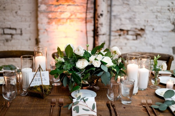 What Does An Organic Rustic Industrial Wedding Look Like