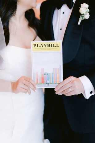 play bill wedding program
