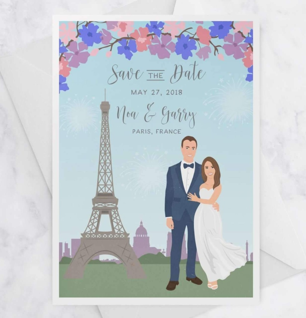 Feature your wedding city with these Portrait Save the Dates! Guests will be SO excited for your big day when they recieve this mini