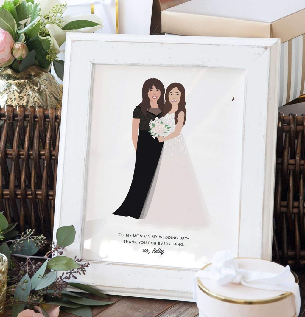 Mother's Day is only a few months away!! This mother of the bride portrait is the perfect gift for the most important person in your