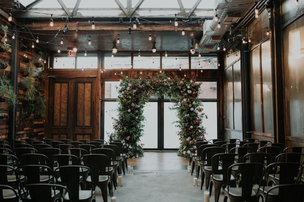 intimate wedding at Brooklyn Winery