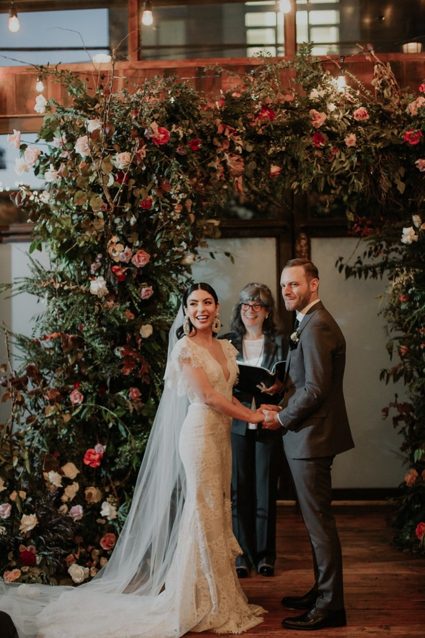 impressive floral arch wedding backdrop