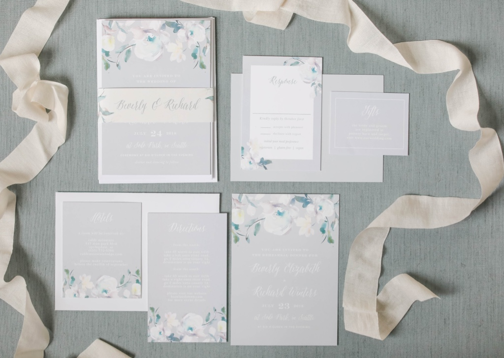 Our Antique Blooms Wedding Invitations Suite is perfect for a delicate spring wedding!