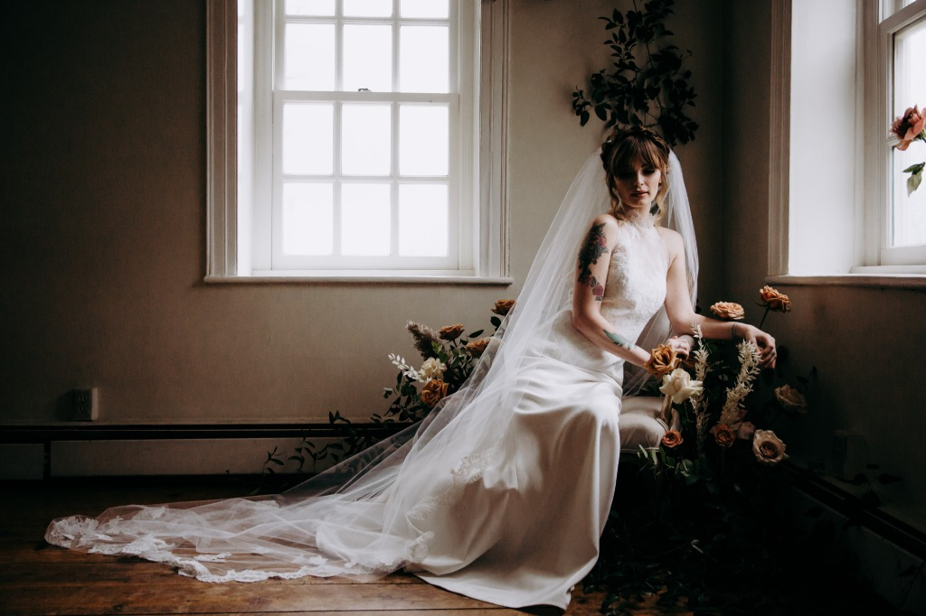 ULTRA ROMANTIC BRIDAL GOWN INSPO AT WINDTHRIFT HALL.