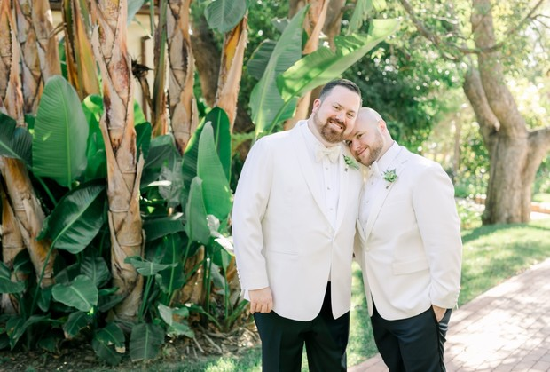 grooms in matching style