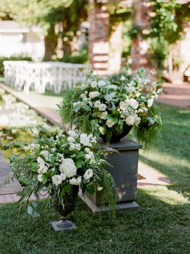 outdoor ceremony florals