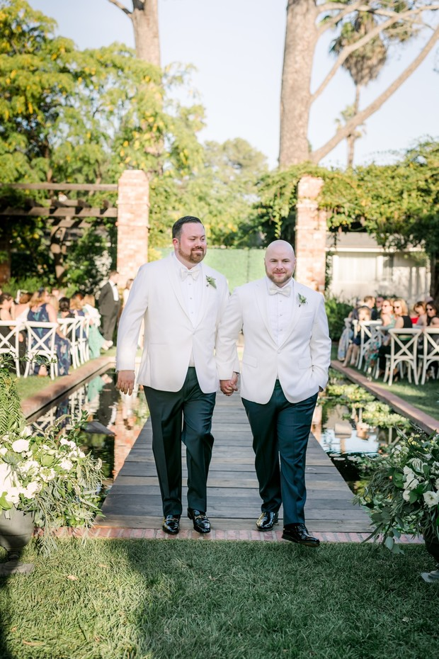 just married! romantic gay wedding