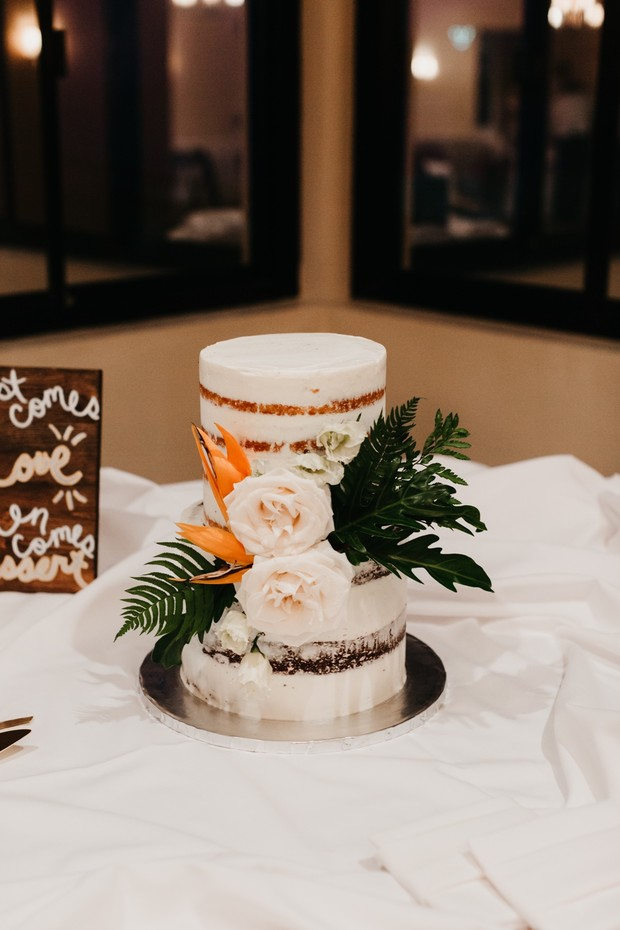 tropical naked cake