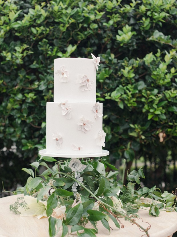 unique flower wedding cake
