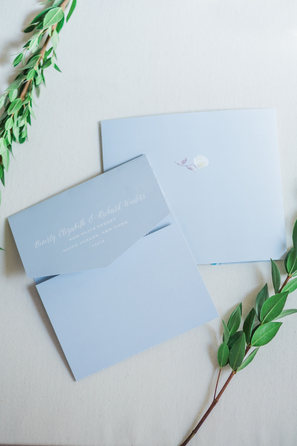 Our Antique Blooms Seal & Send Wedding Invitation will be a hit with its simplicity!
