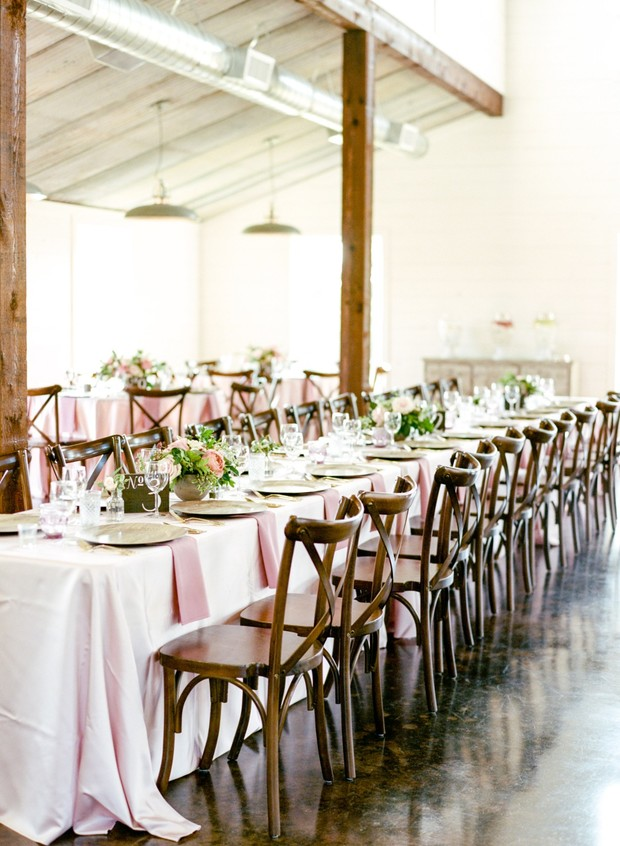 family style wedding reception