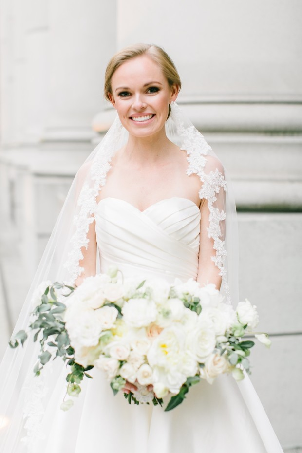 timeless + classic bridal look