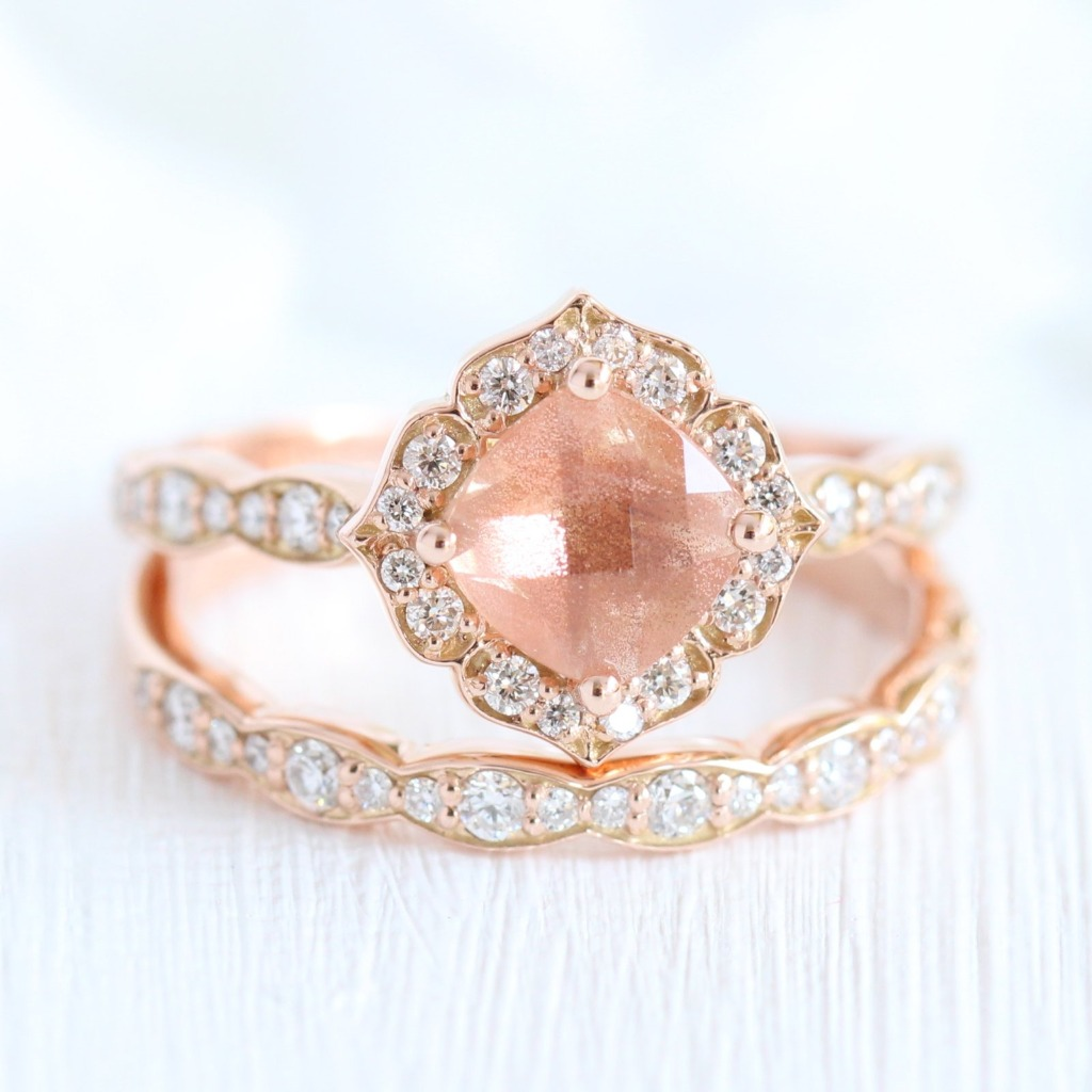 New Ring Alert! Our Oregon Sunstone has finally been listed! Click the photo to check out this gorgeously unique bridal set!