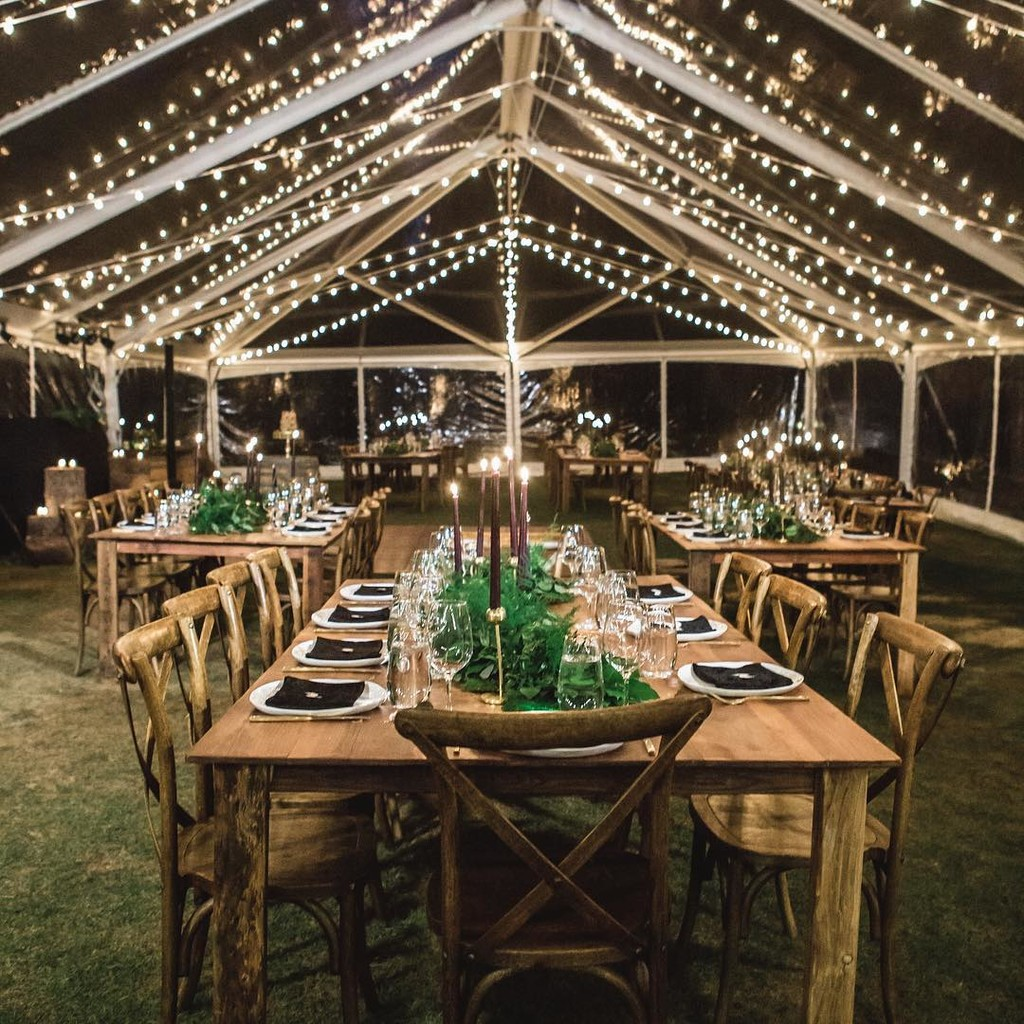 """A glorious glass ceiling party tent that rocks so hard during the reception, it practically bursts in jubilation."" –"