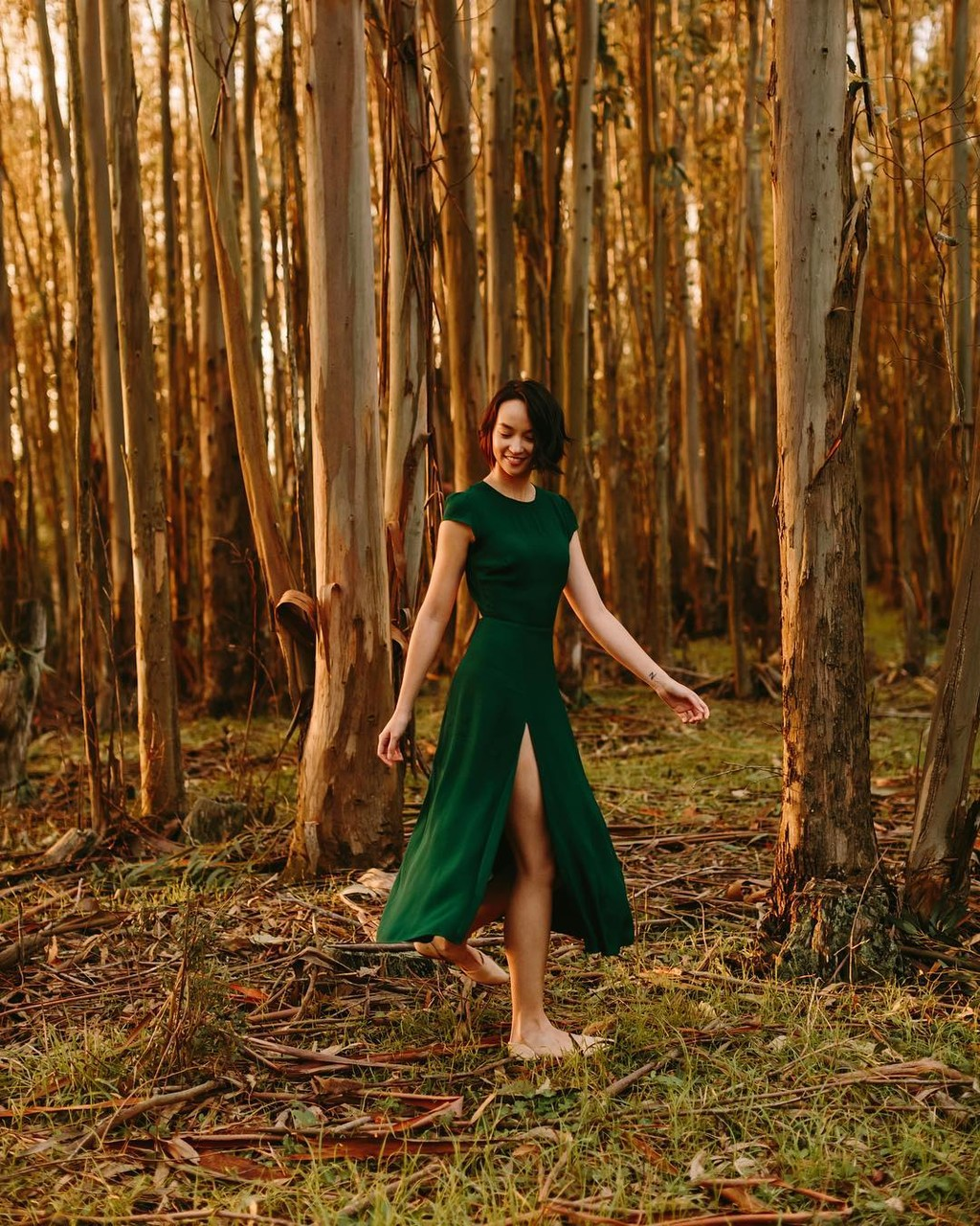 Katie dancing in the trees. #karenobristphotography