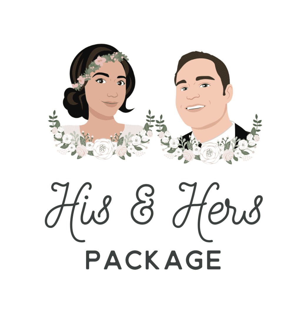 Calling all couples looking to include some seriously fun custom pieces into their wedding day! Our His & Hers package includes