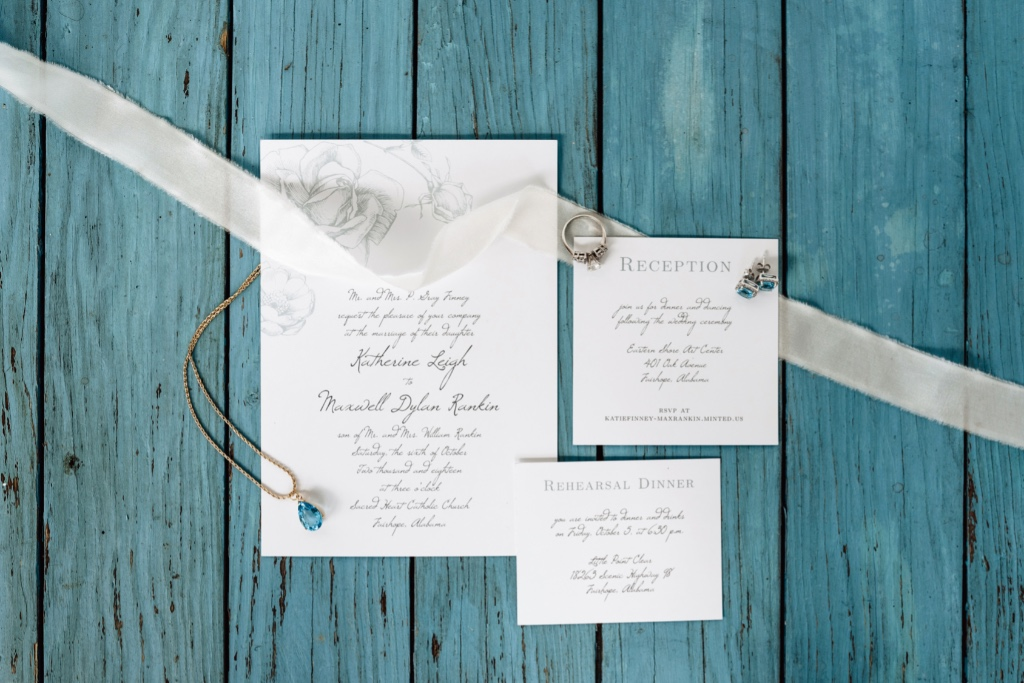 Our Illustrated Rose Portrait Wedding Invitations Suite can be edited with over 180 custom colors so that your invites can be as delicate