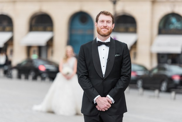 wedding in Paris first look