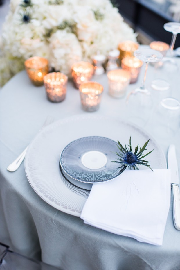 wedding table placesetting
