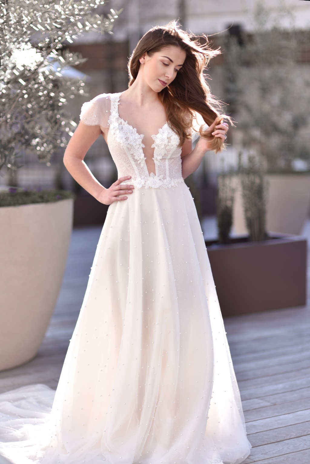 Gorgeous wedding dress by Valeri Bridal available at Diamond Bridal Gallery. Book your appointment today 916.521.9856