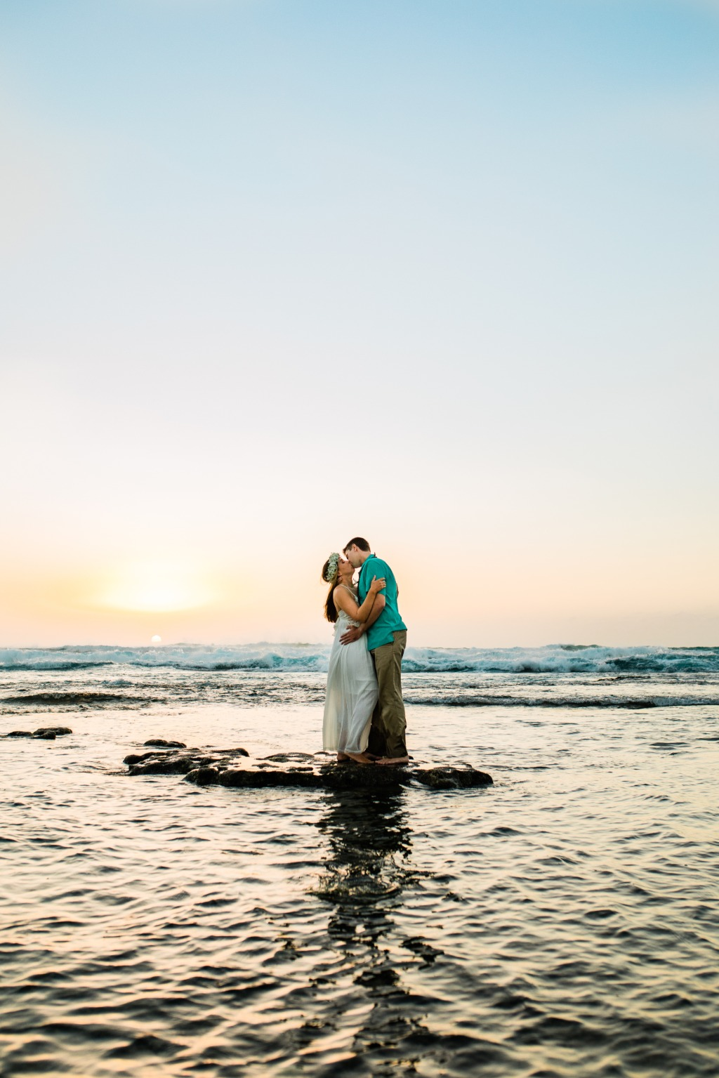 Hawaiian sunsets for engagement sessions can not be beat!!!