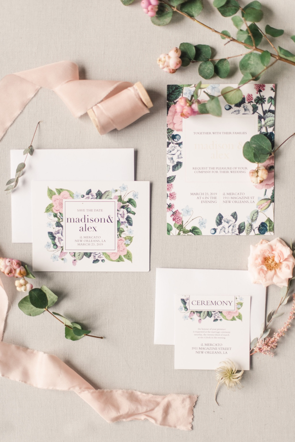 Our Vintage Botanical Wedding invitations suite is perfect for your spring nuptials!