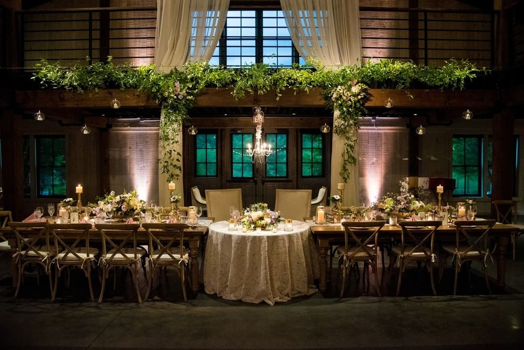 One of our favorite pictures of the barn! So many ways to transform this reception space 💛💚💜💗