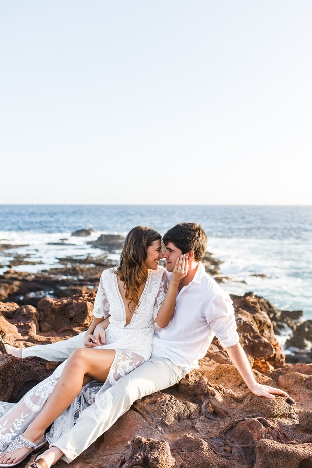 romantic engagement shoot in Lanai