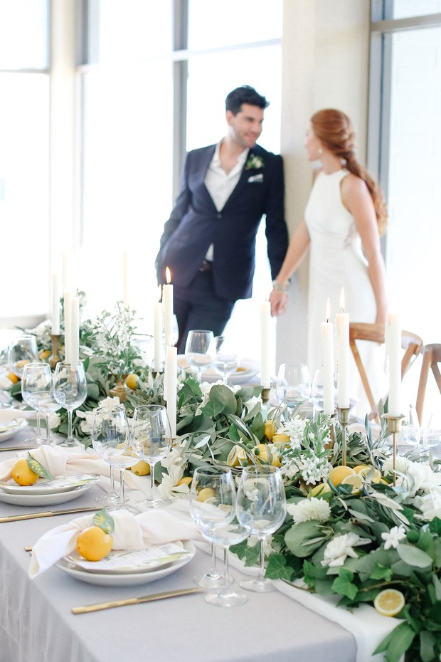 summer time wedding table