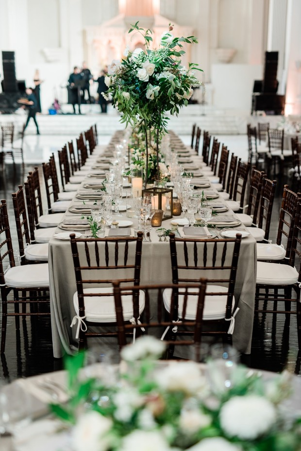 modern chic reception table