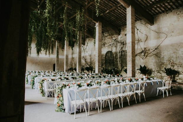 impressive garden wedding reception