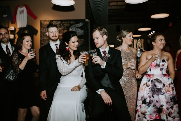 cheers to this moody laid-back wedding in St. Louis