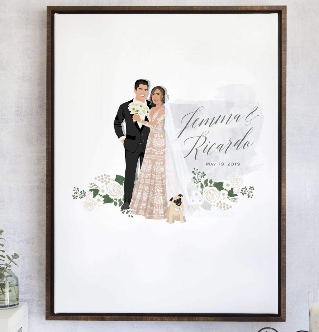 Our Best-Selling wedding guest book alternative gets a chic floral and watercolor touch in our newest style!