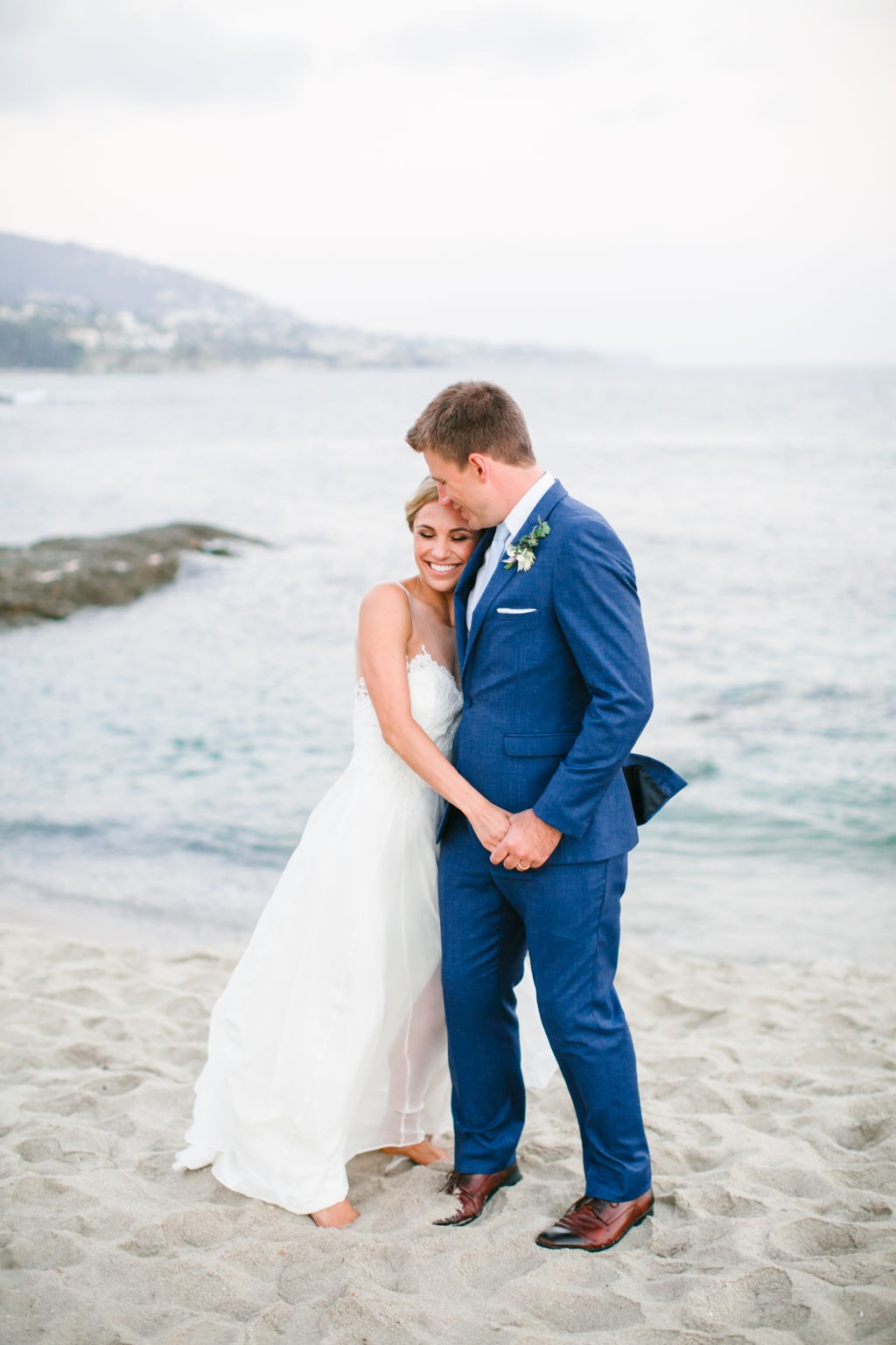 Lea-Ann Belter Real Bride Katie + Matt's Coastal Wedding at Montage Laguna Beach | gown: customized Lea-Ann Belter Ophelia gown and