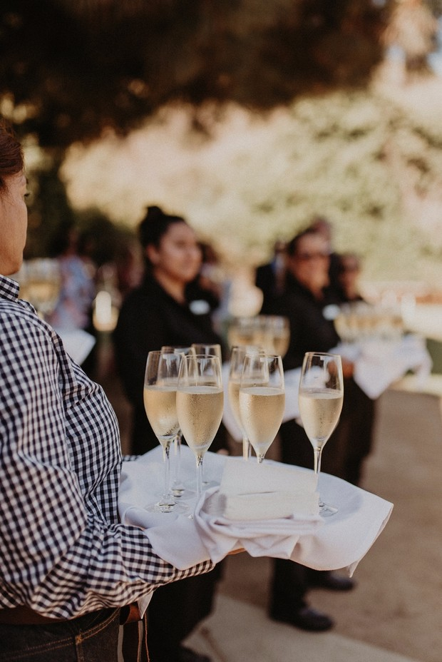 ceremony champagne for guests