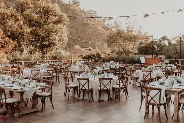 romantic outdoor reception at Ranch at Laguna Beach