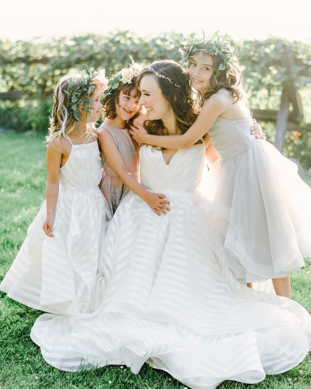 These Matching Brides and Flower Girls Give Us All the Feels