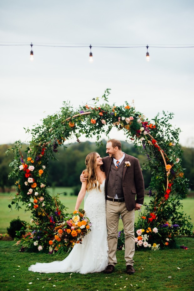 fall flower wedding