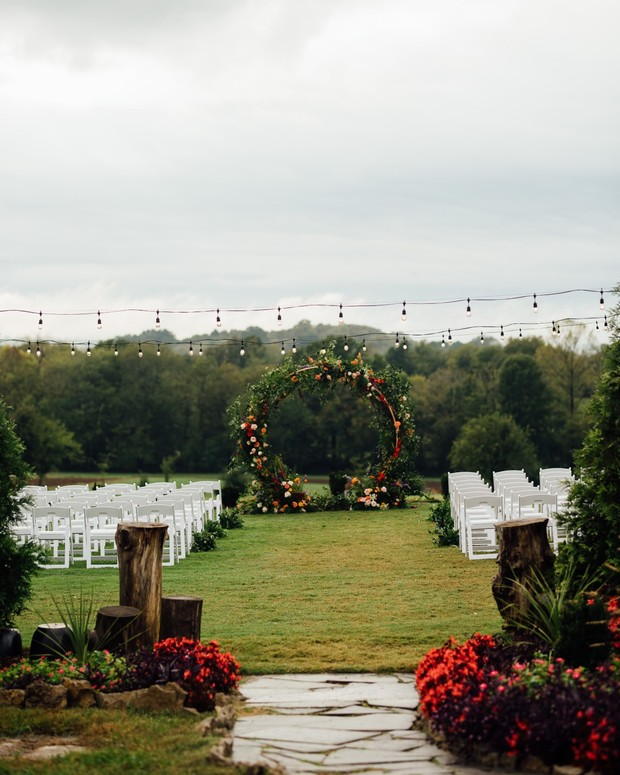 outdoor ceremony on a farm