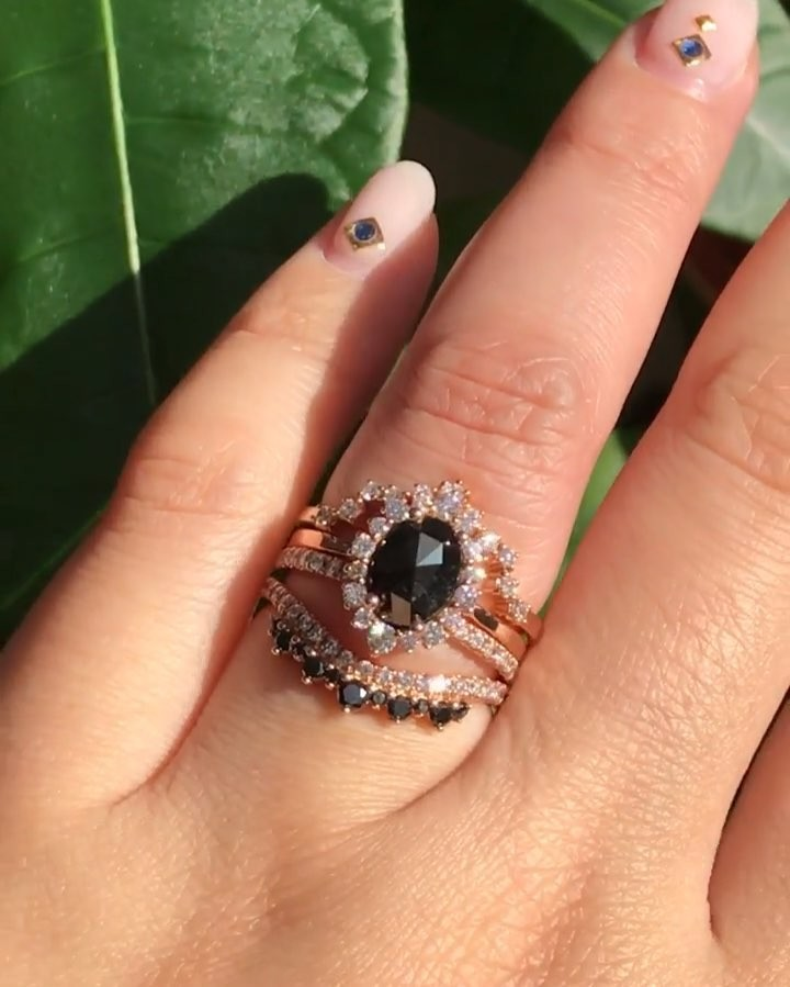 We love that we have so many black gemstone lovers here, because it's one of our favorite styles too! Magical mix of dark, non-traditional