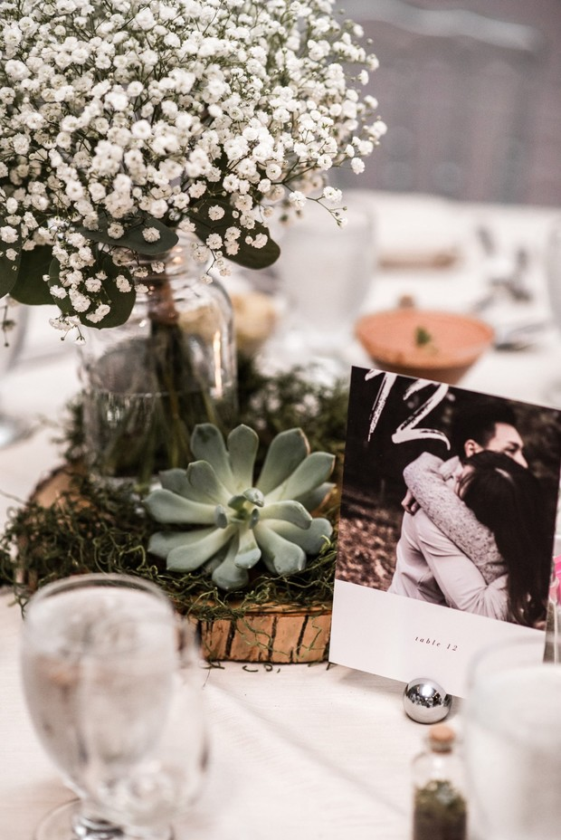 photo table number for wedding