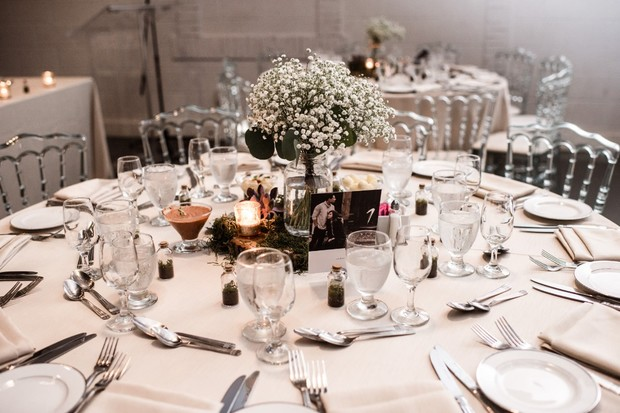 reception table layout