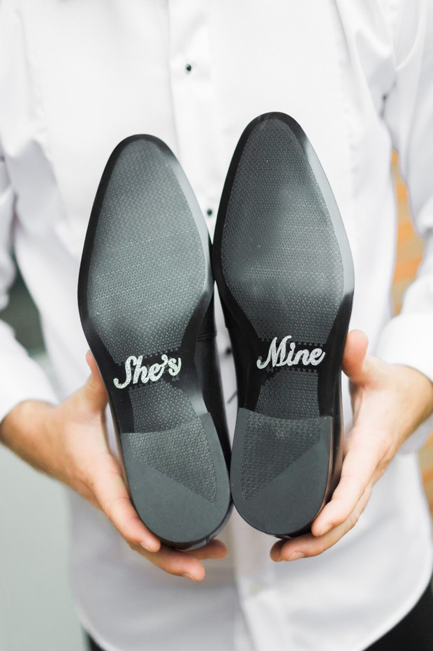 "grooms shoes ""she's mine"""